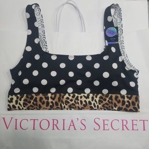 {NWT} PINK | Cheetah Print Lined Sports Bra large